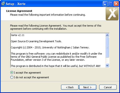 Xerte - instalacja oprogramowania
