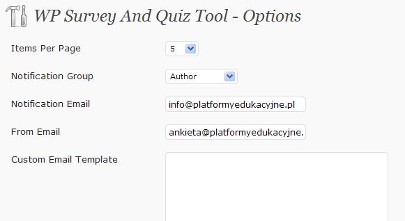 Opcje ankiety
