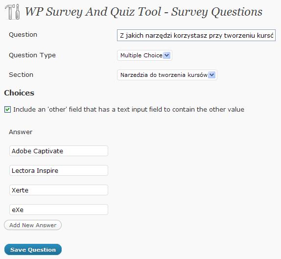Pytania ankiety