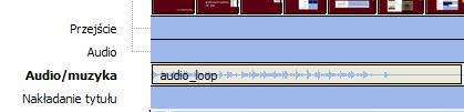 Zaimportuj plik audio i upuść na osi czasu
