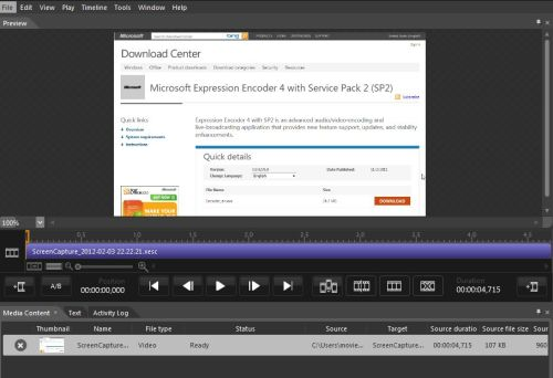 Microsoft Expression Encoder SP2