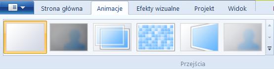 Windows Live Movie Maker - efekty przejścia pomiędzy slajdami