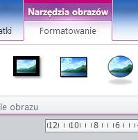Narzędzia obrazów - formatowanie